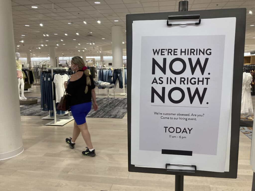The number of Americans applying for unemployment