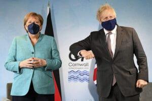 British Prime Minister Boris Johnson held meetings with German Chancellor Angela Merkel
