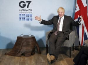 British Prime Minister Boris Johnson gave a strong hint Saturday that the next planned relaxation