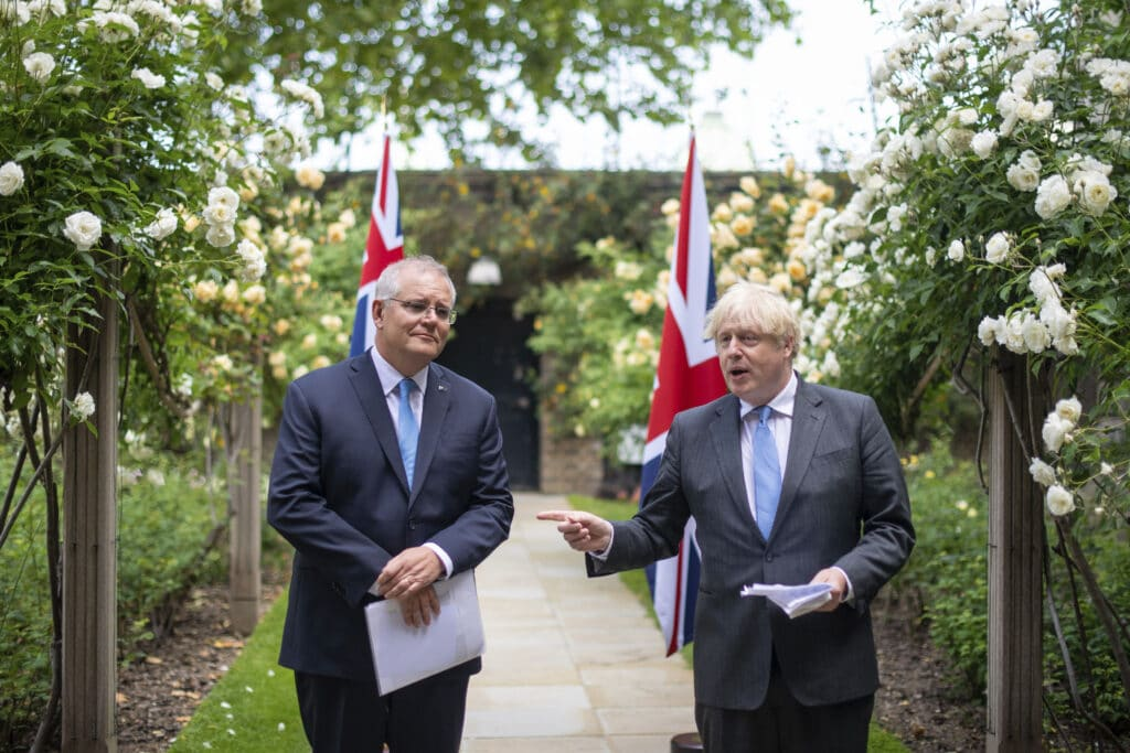 Britain and Australia announced the broad outlines of a free trade deal