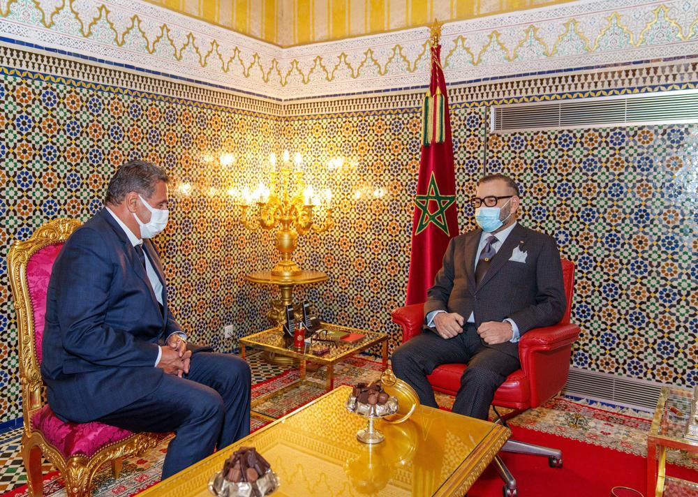 King Mohamed VI of Morocco receives Aziz Akhnouch